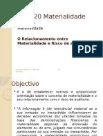 NIA 320 Materialidade