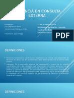 presentacion trabajo eficiencia en consulta externa