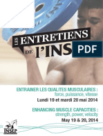 ENTRAINER LES QUALITES MUSCULAIRES _ force, puissance, vitesse. ENHANCING MUSCLE CAPACITIES _ strength, power, velocity. Lundi 19 et mardi 20 mai 2014 (1)