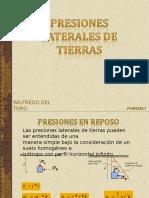 PRESIONES LATERALES DE TIERRAS