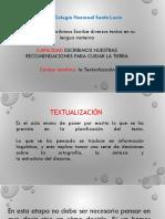 TEXTUALIZACION_Recomendaciones para escribir un texto