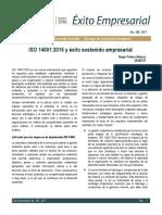 Lectura N° 1 ISO 14001-2015 y éxito sostenido empresarial