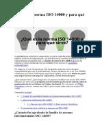 2 Qué es la norma ISO 14000 y para qué sirve