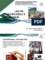1 .- Unidad 1  Albañileria y Acabados