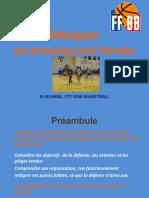 Attaquer un pressing tout terrain G LELARGE, CTF OISE BASKETBALL