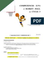 COMPETENCES E P S et BASKET BALL au CYCLE 3. R.Reynaud CPC. LYON PART-DIEU mai 2003 en référence au document d'antoine Muguet.pdf