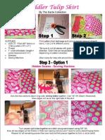 Toddler Tulip Skirt Tutorial PDF-TKK{theBLOG}