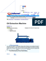 0il extracting machine