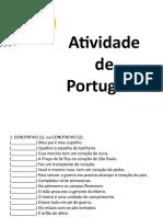 Atividade de Português  figuras de linguagem