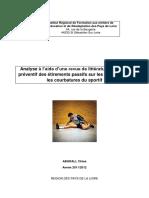 Analyse à l aide d une revue de littérature de l effet préventif des étirements passifs sur les blessures et les courbatures du sportif