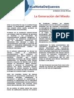 LaNotaDelJueves_LaGeneraciónDelMiedo