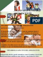 DESARROLLO AFECTIVO DE LA ADOLESCENCIA 25 04 2020