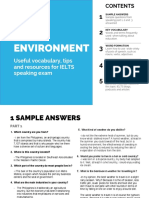 2-Environment topic IELTS speaking