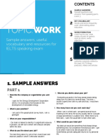 3 Work topic IELTS speaking