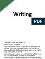 writing test oet information pdf