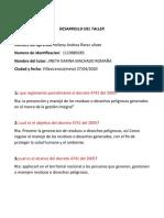DESARROLLO DEL TALLER  normatividad