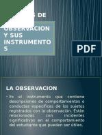 Tecnicas de La Observacion y Sus Instrumentos