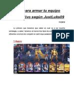 Guia para armar tu equipo competitivo según JustLuks09