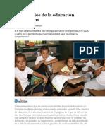 Los desafíos de la educación colombiana