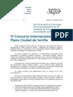 2019 VI ConcursoPiano_CiudadSevilla_nota de prensa