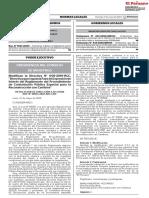 01 Modifican la Directiva N° 005-2019-RCC Directiva que regula la Fase de Expresión de Interés del Reglamento del Procedimiento de Contratación Pública Especial para la Reconstrucción con Cambios