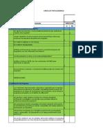 Check List Para Documento Maestro
