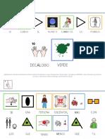 Adaptación del decálogo verde infantil MAYÚSCULAS