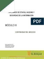 Mód III - Continuidad del Negocio(1)