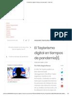 El Taylorismo digital en tiempos de pandemia[1]. – Doble Clik