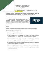 SEMINARIO II 4° ACTIVIDAD EL PENSAMIENTO