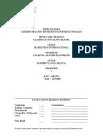 clasificacion arancelaria BIANCA ROMERO