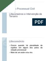Aula 5 - Litisconsrcio e Interveno de Terceiro