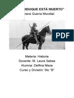 Delfina Meza - PRIMERA GUERRA MUNDIAL-1