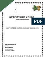 4.1.3 Implementacion de Circuitos Combinacionales y Secuenciales en Pld Rios Hernandez