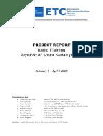 April 2012 - ETC RoSS - Radio Training report_0