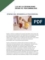 DESARROLLO DE LA SEXUALIDAD INFANTIL DESDE EL PSICOANALISIS