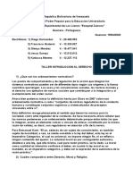 TALLER INTRODUCCION AL DERECHO