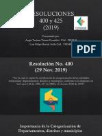 Exposición Resoluciones 400 y 425 (2019) Bernal Avila y Triana González