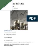 Organização de dados estatísticos - Portal Educação