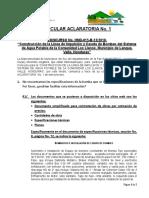 Circular Aclaratoria No.1_Línea de Impulsión Los Llanos