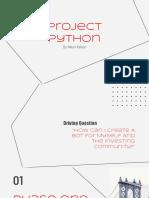 project python demo presentation