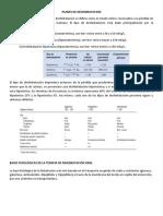 PLANES DE DESHIDRATACION