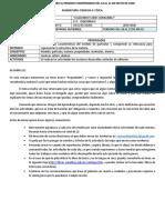 Fabyractividades Periodo 18 Al 22 de Mayo de 2020