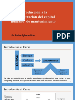 INTRODUCCIÓN al Curso de Administración del capital humano  de mantenimiento