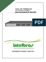 42467_Manual de Trabalho - Switch Rack Gerenciável SF 2842 MR