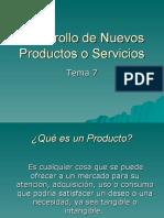 Tema 7 Desarrollo de Nuevos Productos o Servicios