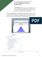 Distribuciones de Probabilidad Discreta_ Características, Ejercicios - Lifeder