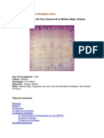 Análisis toponímico de 3 lienzos de la Mixteca baja