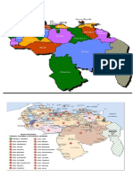 mapa de venezuela, los estados y el turismo
