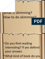 kinds of reading